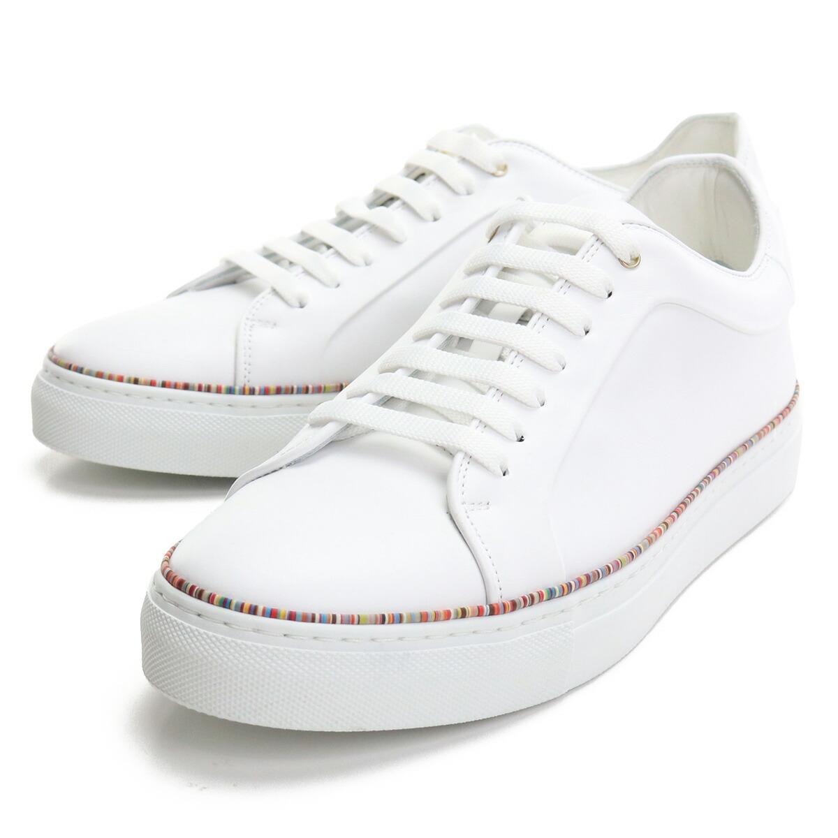 ポール・スミス Paul Smith  メンズスニーカー 白スニーカー ブランドスニーカー M1SBAS74 ETRI 01 WHITE ホワイト系 shoes-01