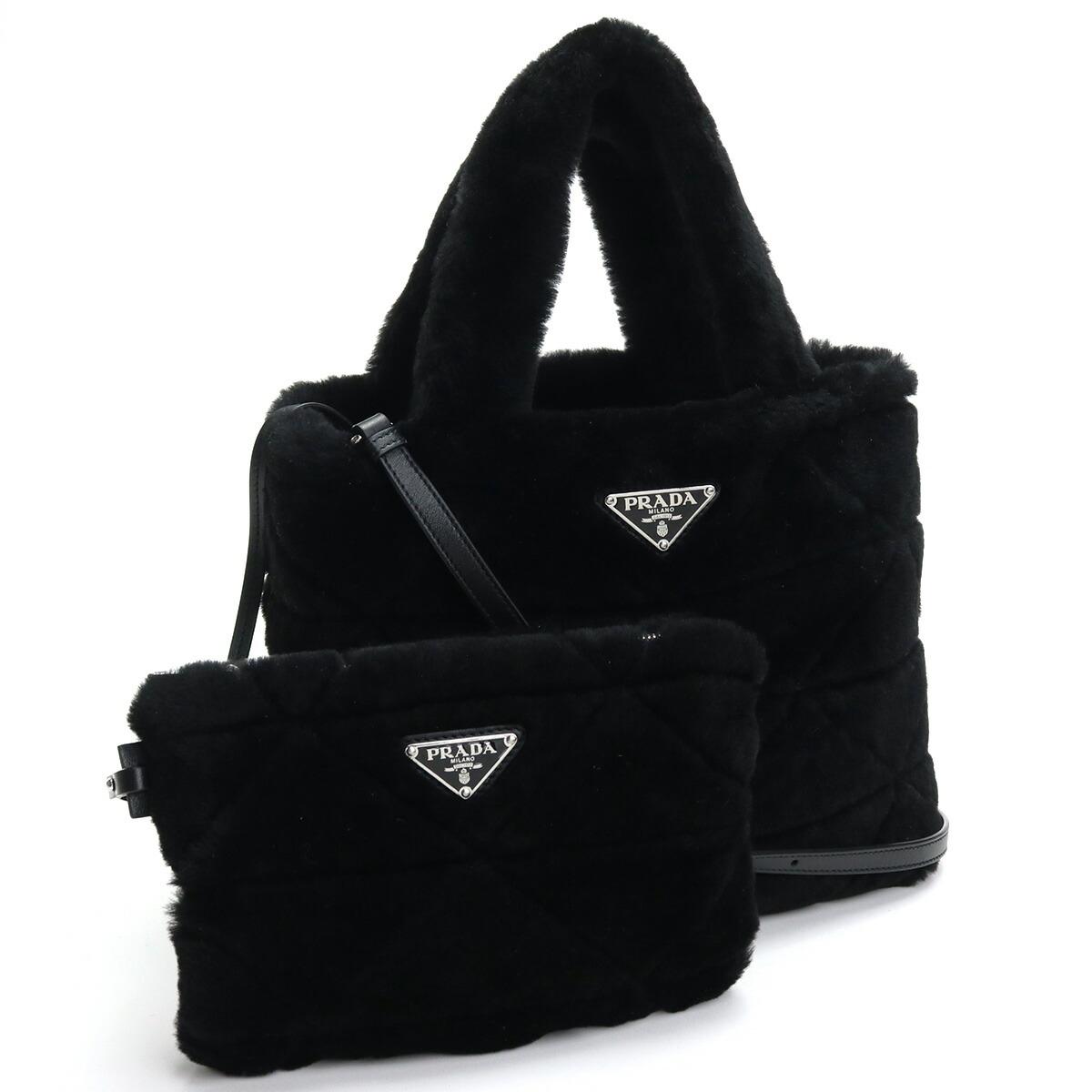 プラダ PRADA  トートバッグ ブランドバッグ ブランドロゴ ファ-バッグ 1BG378 2EC9 V WOO F0002 NERO ブラック bag-01