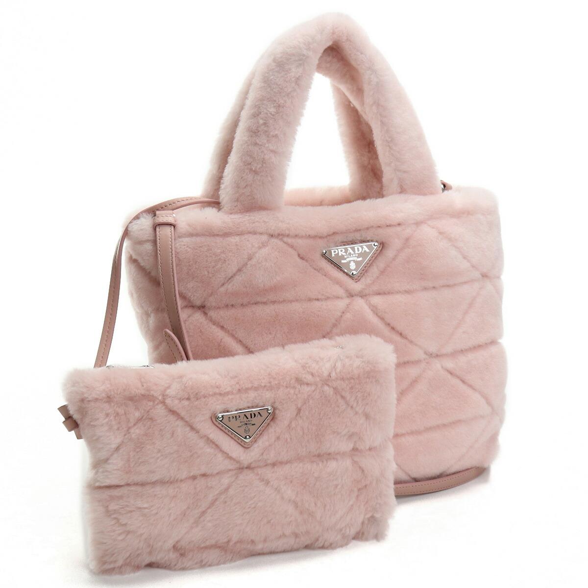プラダ PRADA  トートバッグ ブランドバッグ ブランドロゴ ファ-バッグ 1BG378 2EC9 V WOO F0615 ORCHIDEA ピンク系 bag-01