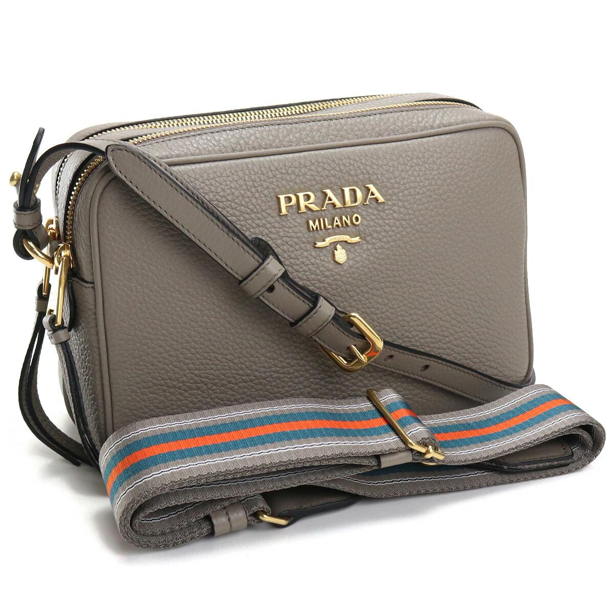 プラダ PRADA  斜め掛け ショルダーバッグ ブランドロゴ ブランドバッグ 1BH082 2BBE V NOM F0572 ARGILLA グレー系 bag-01
