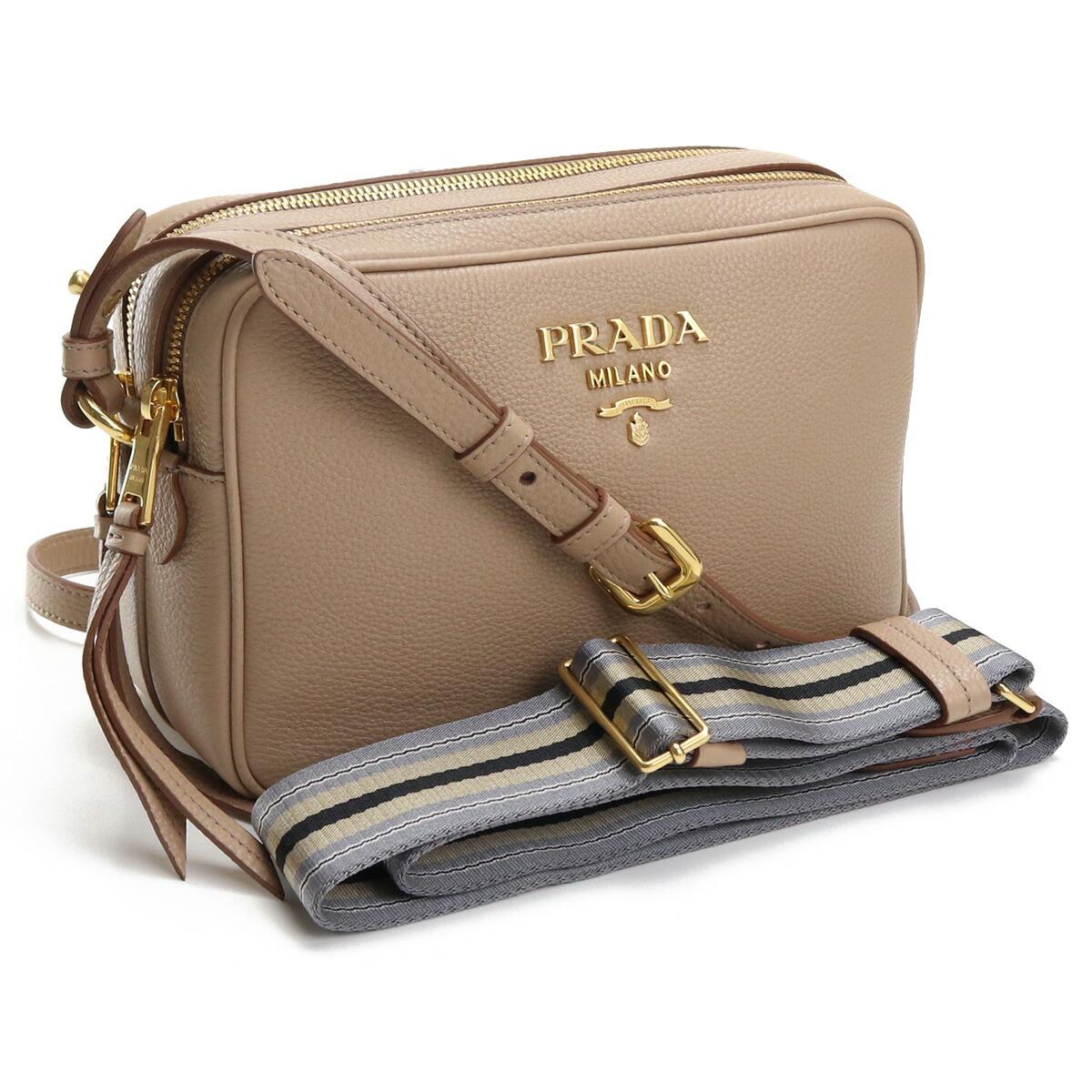 プラダ PRADA  斜め掛け ショルダーバッグ ブランドロゴ ブランドバッグ 1BH082 2BBE V NOM F0770 CAMMEO ベージュ系 bag-01
