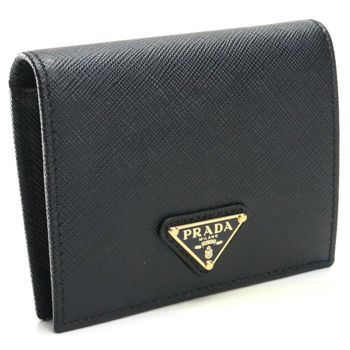 プラダ PRADA  2つ折り財布 ブランド財布 ミニ財布 コンパクト財布 1MV204 QHH F0002 NERO ブラック gsw-2