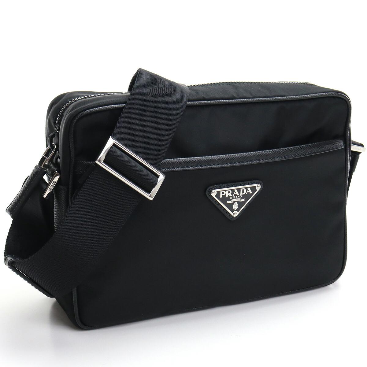プラダ PRADA  斜め掛け ショルダーバッグ ブランドバッグ ブランドロゴ 2VH048 2DMH V OOO F0002 NERO ブラック bag-01