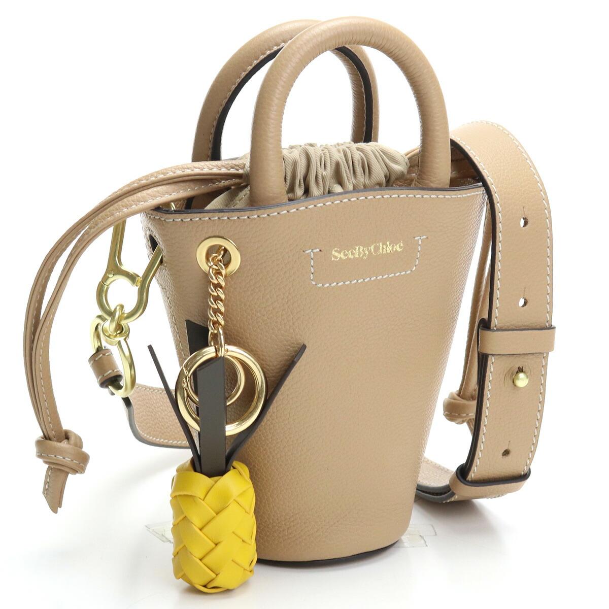 シーバイクロエ SEE BY CHLOE  ハンドバッグ ショルダーバッグ 2WAY CHS21SSB04924 205 CECILYA MINI TOTE BAG COCONUT BROWN ブラウン系 bag-01 bos-27