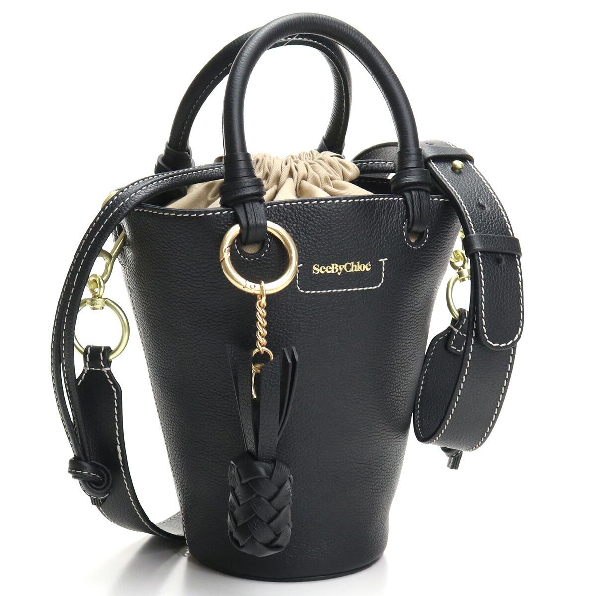 シーバイクロエ SEE BY CHLOE  ハンドバッグ ショルダーバッグ 2WAY CHS21SSB05912 001 CECILYA SMALL TOTE BAG BLACK ブラック bag-01 bos-27