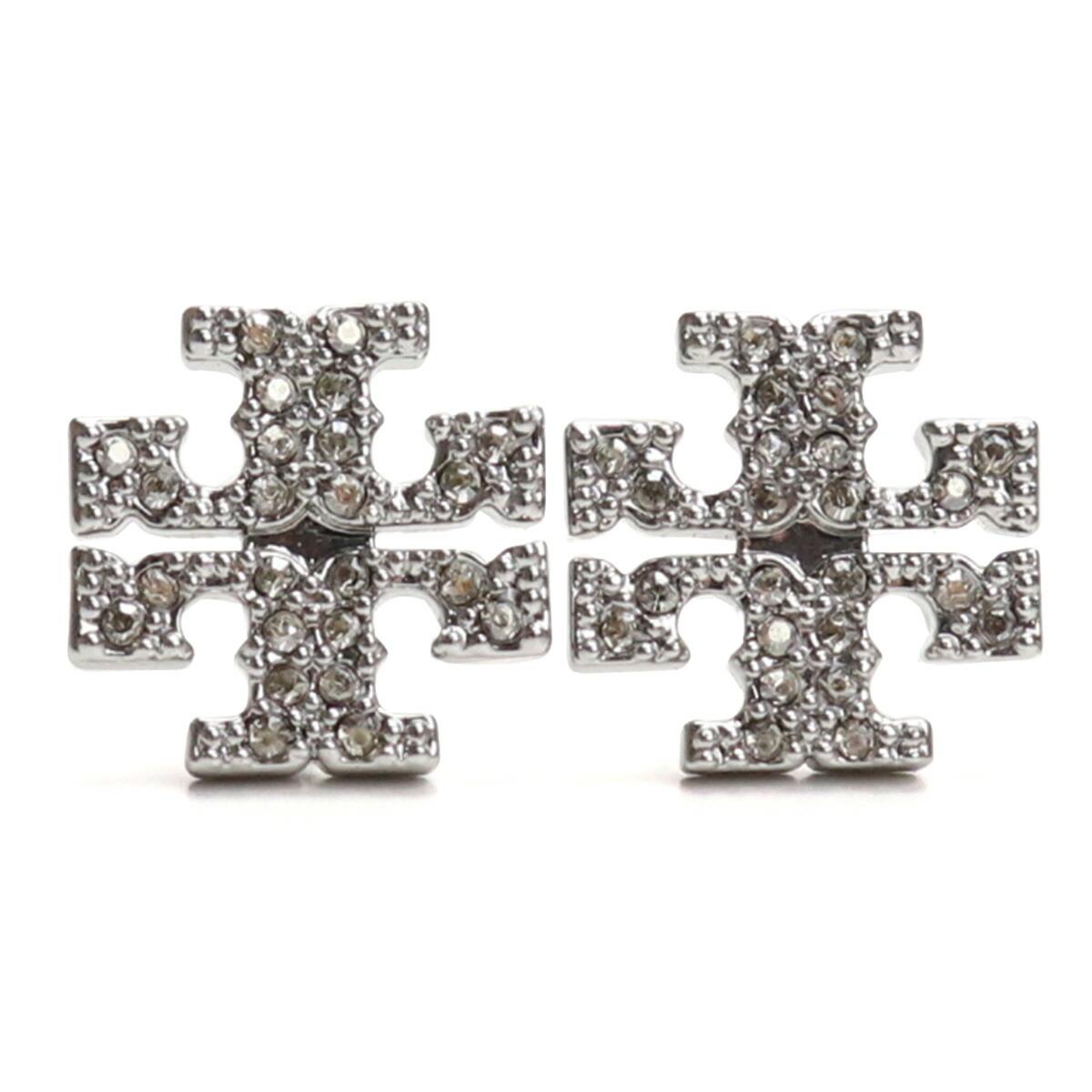 トリーバーチ TORY BURCH KIRA PAVE STUD EARRING ピアス ブランドアクセサリー 53423 042 TORY SILVER クリア系 accessory-01