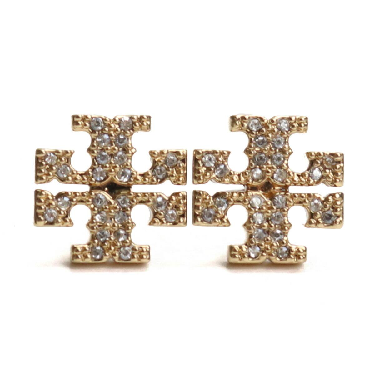 トリーバーチ TORY BURCH KIRA PAVE STUD EARRING ピアス ブランドアクセサリー 53423 783 TORY GOLD/NEW IVORY クリア系 accessory-01
