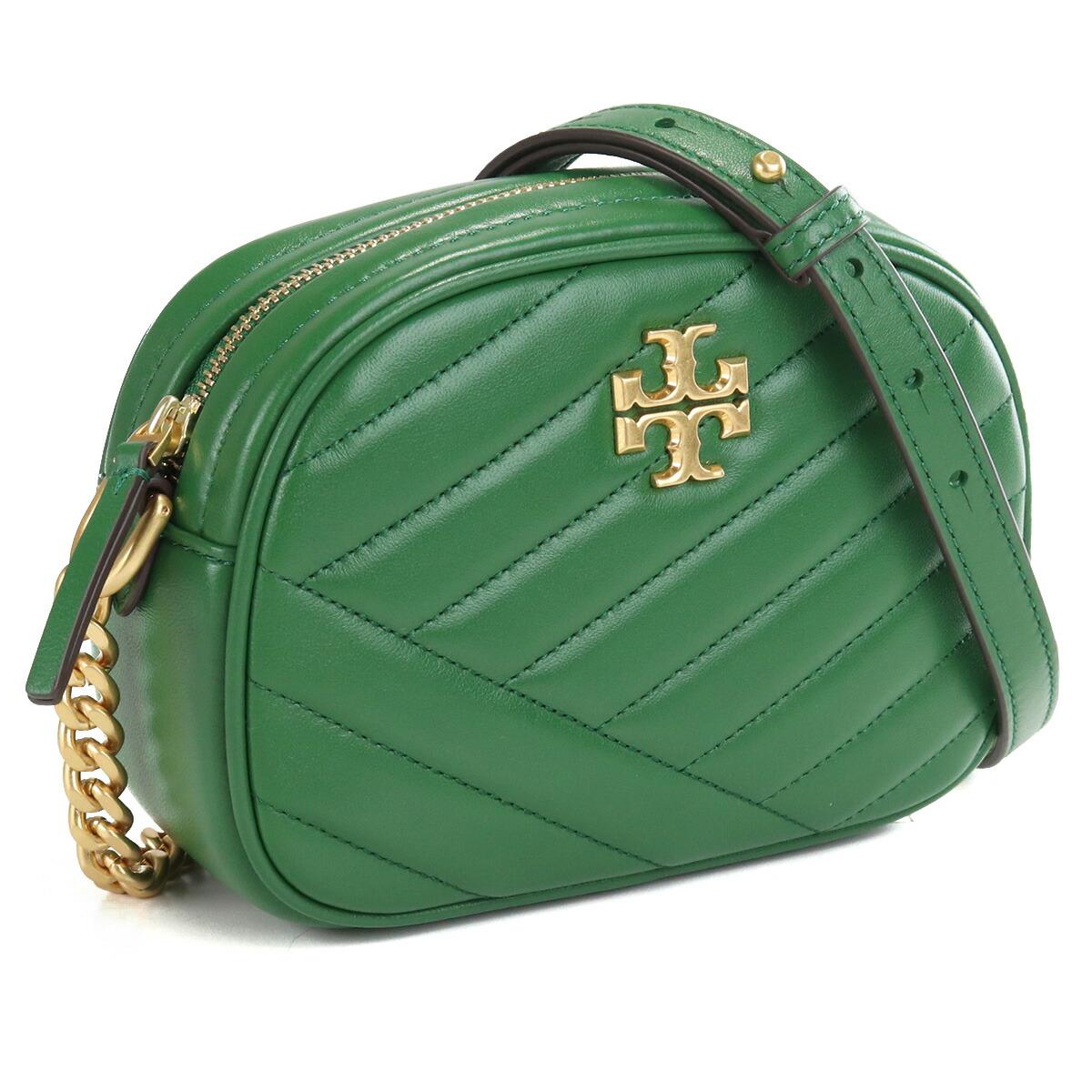 トリーバーチ TORY BURCH KIRA CHEVRON QUILT 斜め掛け ショルダーバッグ ブランドバッグ ブランドショルダーバッグ 60227 367 ARUGULA グリーン系 bag-01
