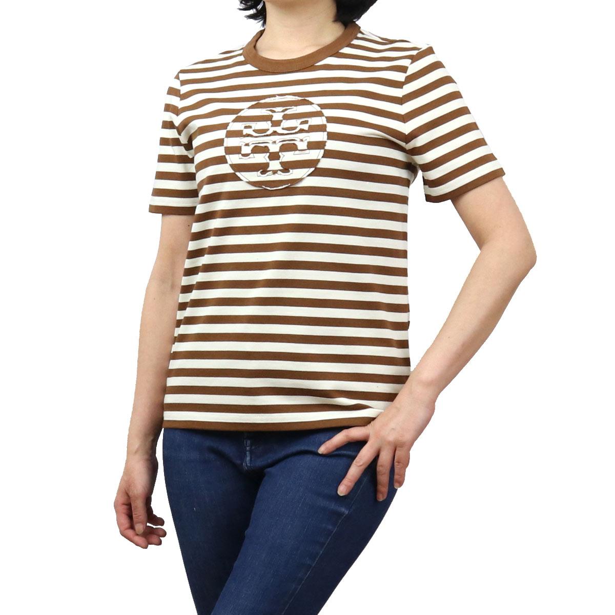 トリーバーチ TORY BURCH レディース-Tシャツ 63871 229 ブラウン系 apparel-01 レディース
