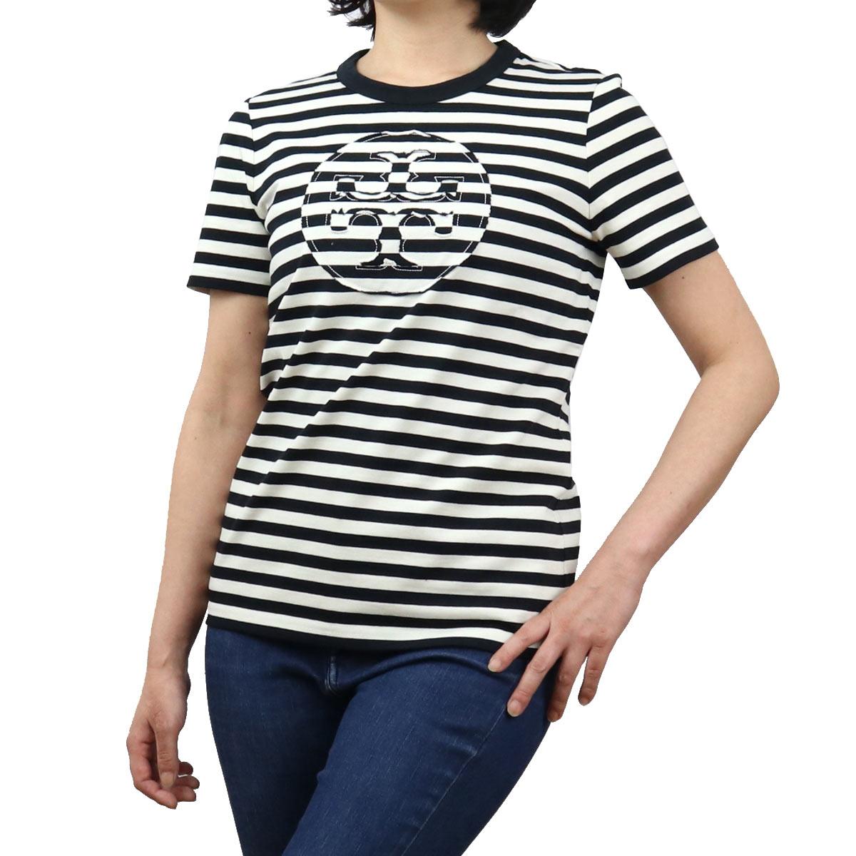 トリーバーチ TORY BURCH レディース-Tシャツ 63871 001 ブラック apparel-01 レディース