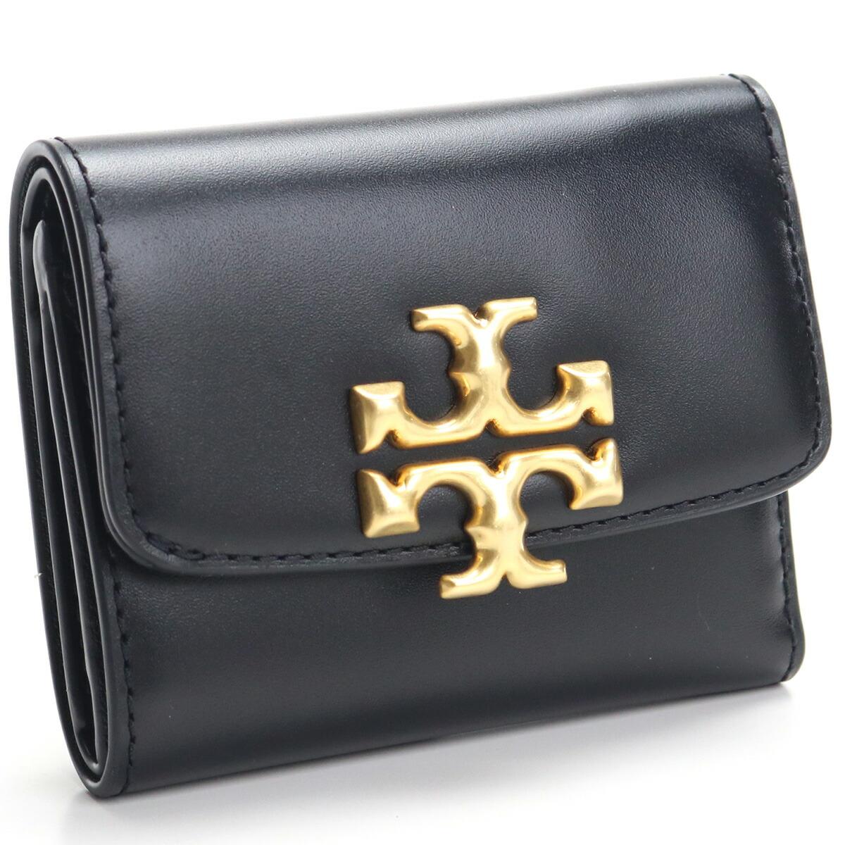 トリーバーチ TORY BURCH ELEANOR 3つ折り財布 コンパクトサイフ 73519 001 BLACK ブラック レディース