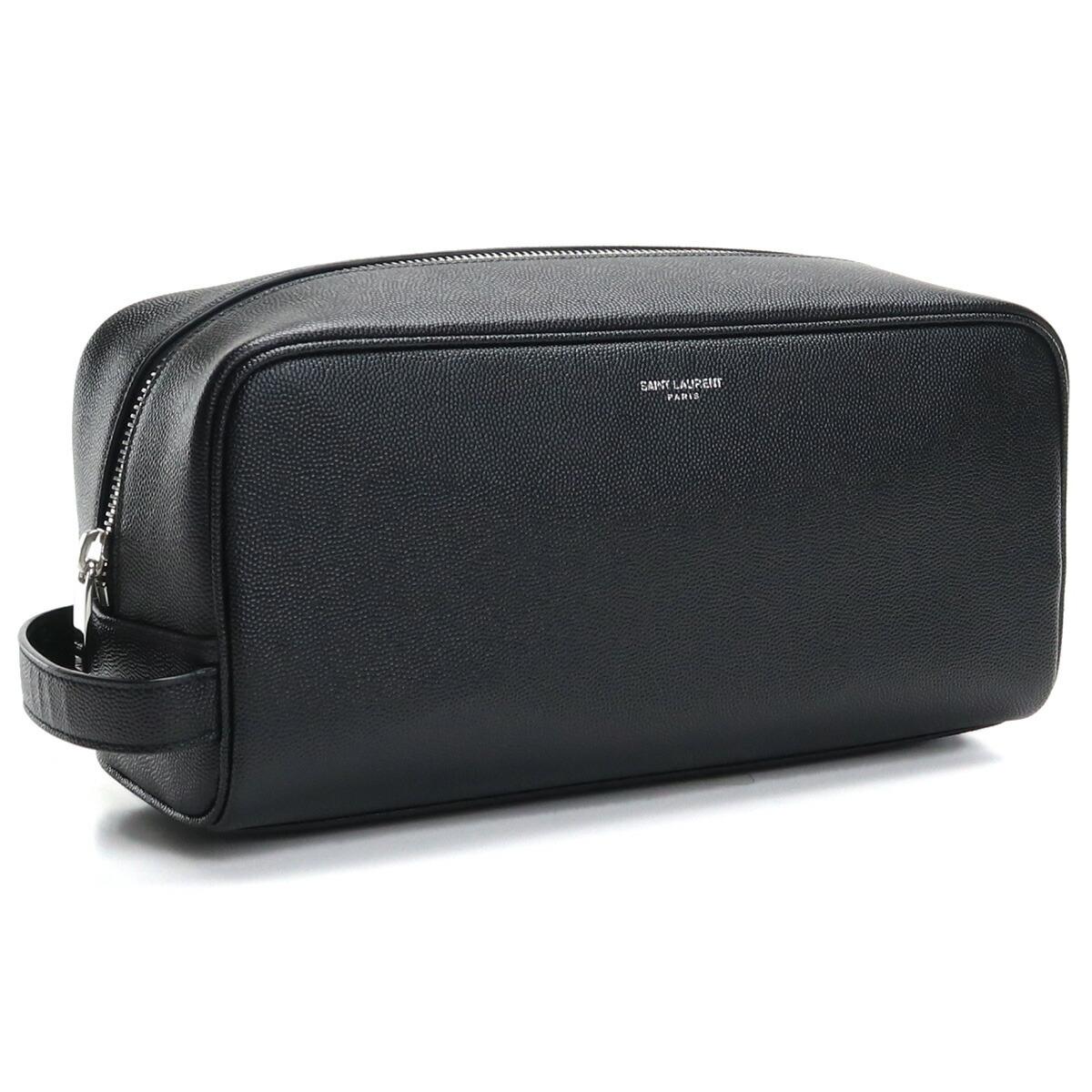 サンローラン SAINT LAURENT セカンドバッグ サフィアノレザー 型押し 609347 1GF0N 1000 ブラック bos-14 bag-01 メンズ