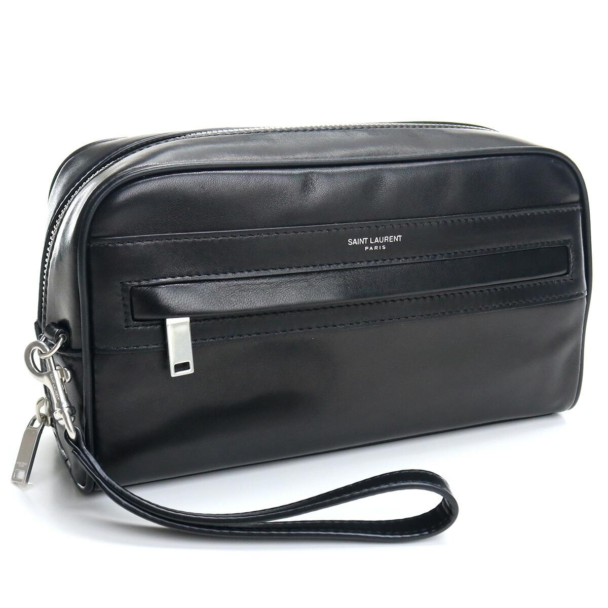 サンローラン SAINT LAURENT セカンドバッグ ラムスキン 635166 1EL0E 1000 ブラック bos-14 bag-01 メンズ