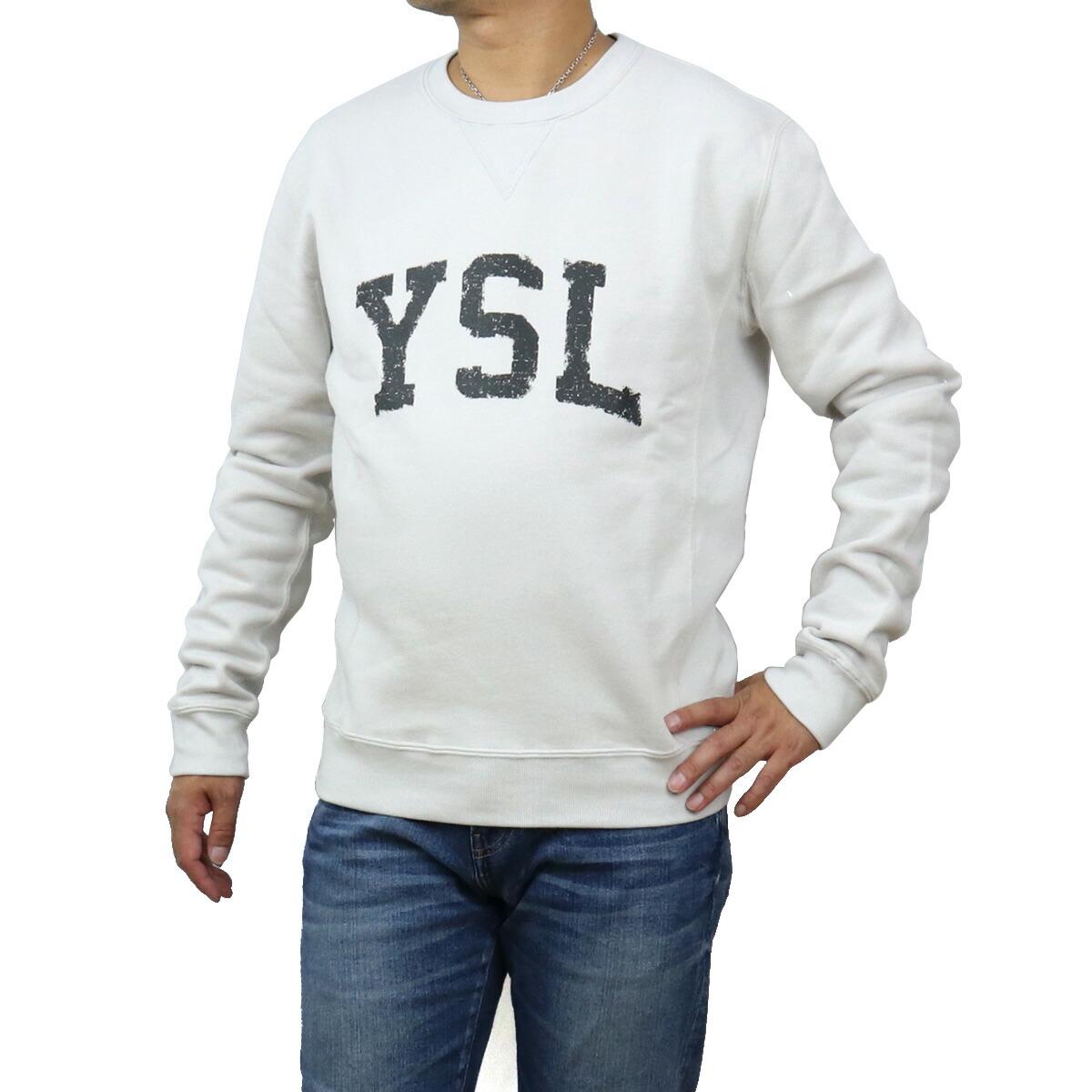 サンローラン SAINT LAURENT  メンズ-スウェット ブランドロゴ ブランドトレーナー 666979 Y36IP 9766 グレー系 bos-14 apparel-01